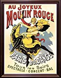 Au Joyeaux Moulinrouge Framed Print 20.00''x15.07'' by Vintage Apple Collection