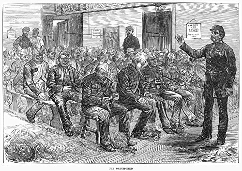 England Prison 1874Nprisoners At The Clerkenwell House Of Correction In London Preparing Oakum A Tarred Fibre Used In Shipbuilding For Caulking Wood Engraving English 1874 Poster Print by (18 x 24) ()