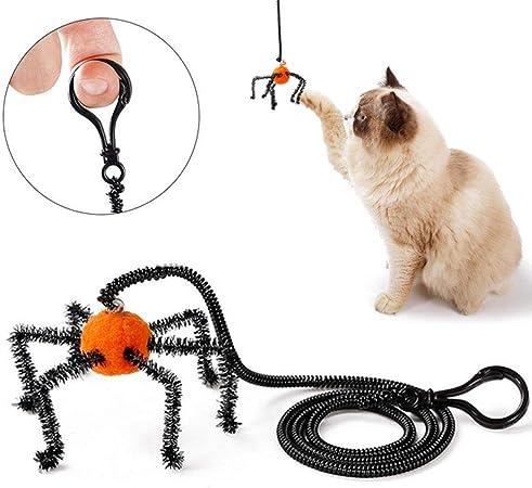 leegoal Juguetes para Gatos niños, diseño de araña de Gato, resortes interactivos, Juguete para Mascotas con Campana, Campanilla integrada y ejercitador para Gatos y Gatitos: Amazon.es: Hogar