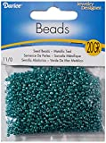 Dariceglass Seed Bead, Metallic Teal