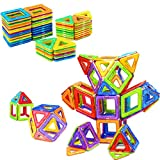 Magnetic Building Blocks Educational Construction Magnet Tiles Toy Set for Kids by idoot - 64pcs