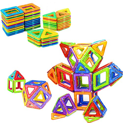 Top AMOSTING Magnetic Blocks Building Set for Kids, Magnetic Tiles Educational Building Construction Toys for Boys and Girls with Storage Bag - 64pcs supplier