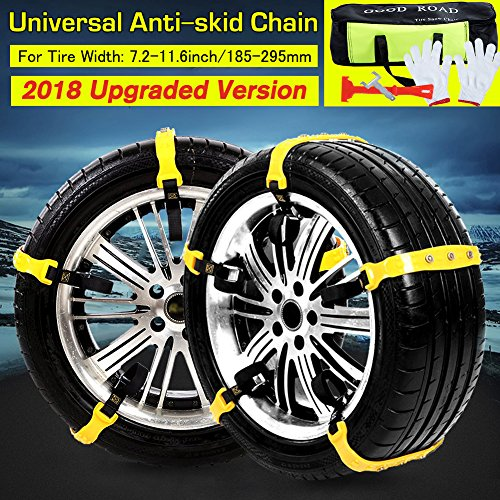 MeiLiMiYu Anti Slip Tire Chains Snow Tire Chain Cable Traction Mud Nonskid Chain Snow Tire Traction Chain 10 PCS Emergency Security Tire Chains for Car/Truck/SUV (Yellow)