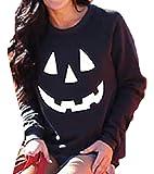 LEISHOP La Mujer Halloween Sudadera Cuello Redondo Pullover Jumper Top