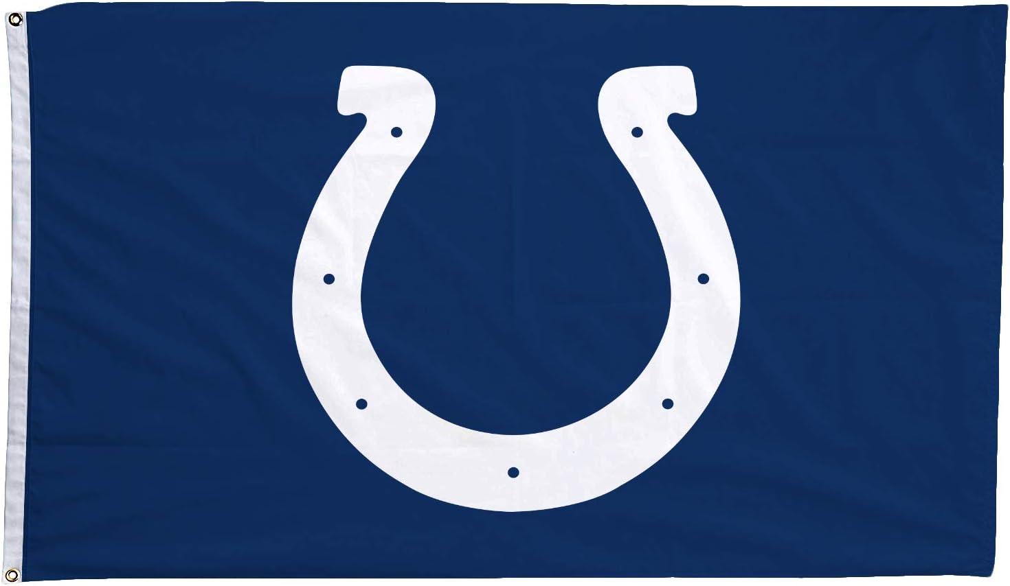LEMOISTARS NFL Teams Big Logo 3 X 5 Double Sided Fans Banner Champion Flag with 2 Grommets Extra Durability