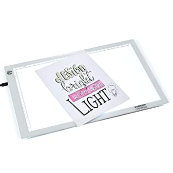 Vaessen Creative Trace Easy A4-Leuchtplatte mit LED-Beleuchtung