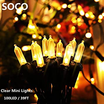 39FT Battery Powered Vintage Edison Bulb Fairy String Lights Garden Outdoor