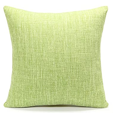 Acanva Decorative Accent Throw Pillow Cushion with Pillowcase Cover Sham & Insert Filling, Large, Solid Pale Green
