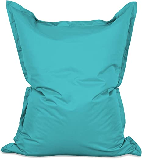 Imagen deLumaland PUF otomano Puff XXL 140 x 180 cm 380l con Relleno Innovador Maxi Puff Interior Exterior Azul mar