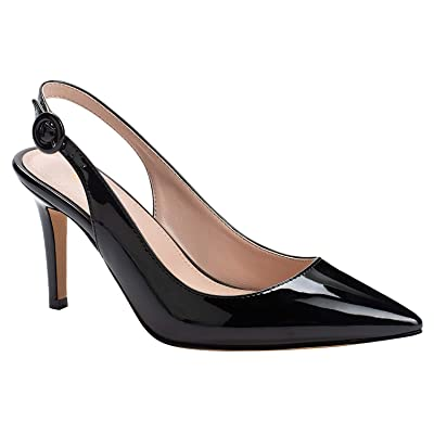 IMOSHINE Women's Pointed Toe Slingback High Heels Pumps Ladies Fashion Evening Party Dress Stiletto Sandals Shoes | Pumps