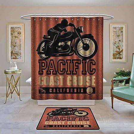 Cortina de ducha de baño personalizada, diseño de Adventure ...