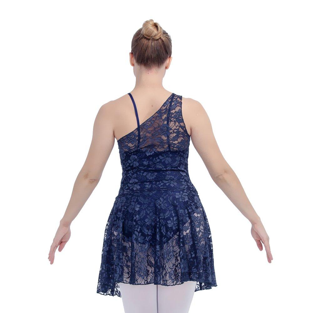 eb22d5cae Adult Lyrical Dance Dress Lace Overlay Nylon Underskirts (Navy Blue, XL):  Amazon.co.uk: Sports & Outdoors