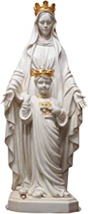 Blessed Virgin Mother Mary of The Sacred Heart 34 Inch Outdoor Garden Statue
