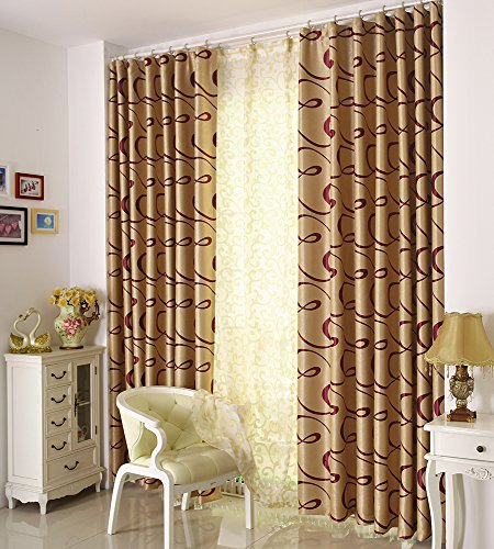 Grommet Top Velvet Panels (Airdodo Classic Decorative Champagne Gold 60-inch By 95-inch Velvet Grommet Top Curtain (One)