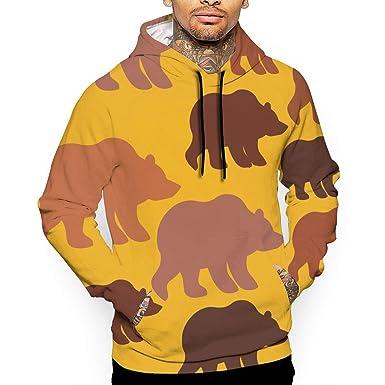 a4f6f3120e6d Amazon.com  HZamora H Men s Cute Panda Pattern Pullover Hoodie Sweatshirt  with Pockets  Clothing