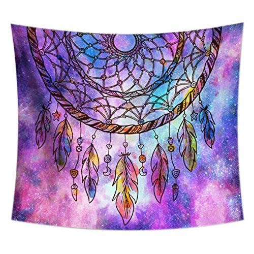 (Uphome Ombre Purple Tapestry Galaxy Dream Catcher Wall Hanging Light-Weight Polyester Fabric Wall Decor (51