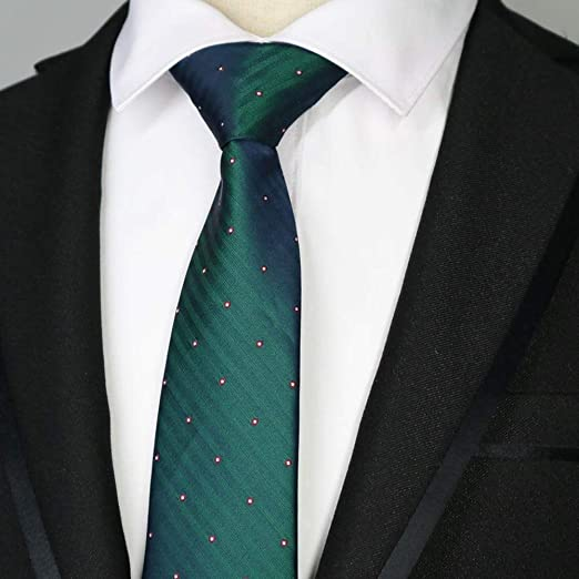 QEHWS Corbata Hombre Corbatas De Poliéster Rayas De Poliéster ...