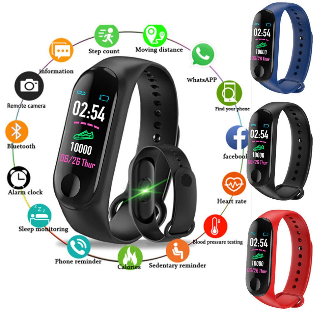 Amazon.com: Mcree Smart Band Reloj Pulsera Pulsera Fitness ...