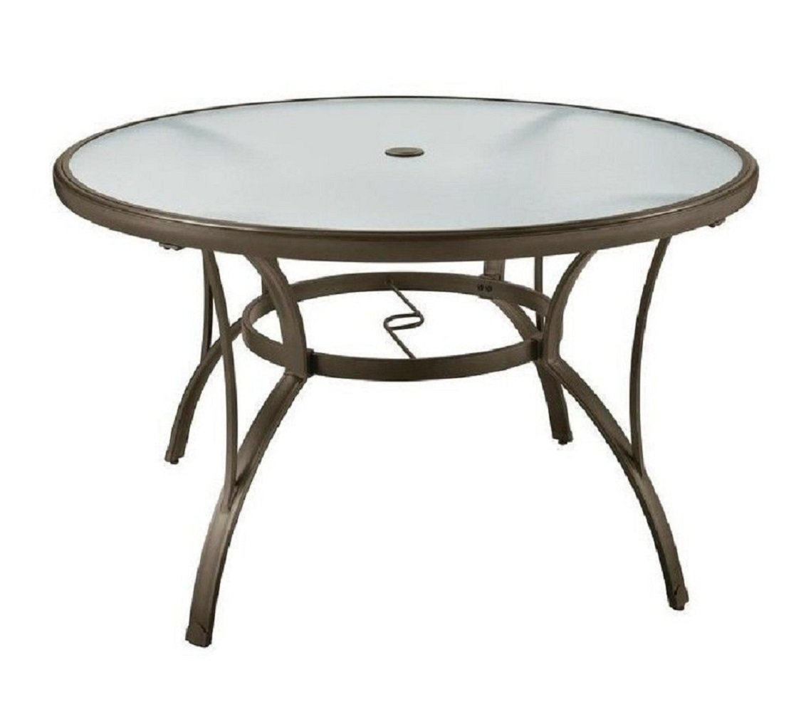 PF 48 Patio Round Dining Glass Table Garden Furniture