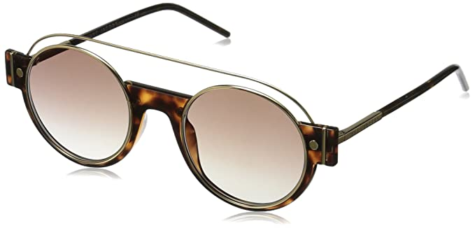 2dbb56c71f15 Marc Jacobs Women's Marc2s Round Sunglasses, Dark Havana/Brown/Gold, ...