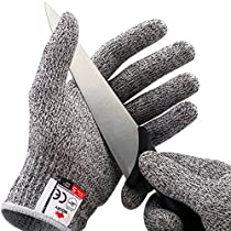 NoCry Cut Resistant Gloves - Ambidextrous, Food Grade, High Performance Level 5 Protection