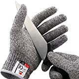#10: NoCry Cut Resistant Gloves - High Performance Level 5 Protection, Food Grade. Size Medium, Free Ebook Included!