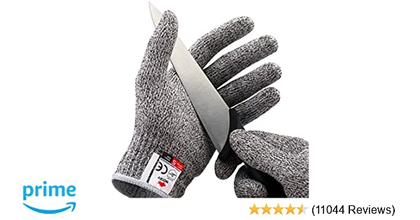 NoCry Cut Resistant Gloves - High Performance Level 5 Protection, Food  Grade  Size Medium, Free Ebook Included!