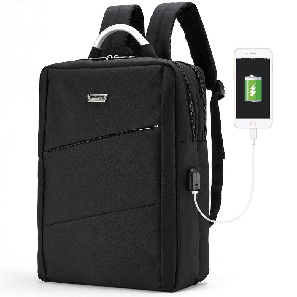 70%OFF Travel Business Backpack, Modoker Laptop Backpack Briefcase with USB Charging Port Travel Bag for Women Men, Fit for 15 Inch Laptop (Black)