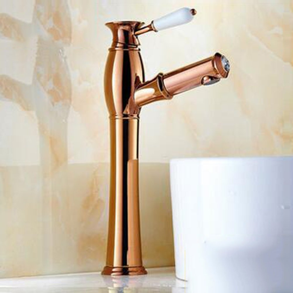 3 B Basin Tap Antique Pull-out Faucet Brass Basin Faucet Retro European Basin Telescopic redating Faucet Suitable For Any Place ( color   1 , Design   A )