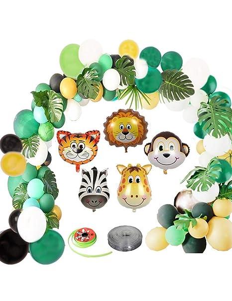 ZLJTT Jungle Safari Party Balloon Arch Baby Shower Globos de ...