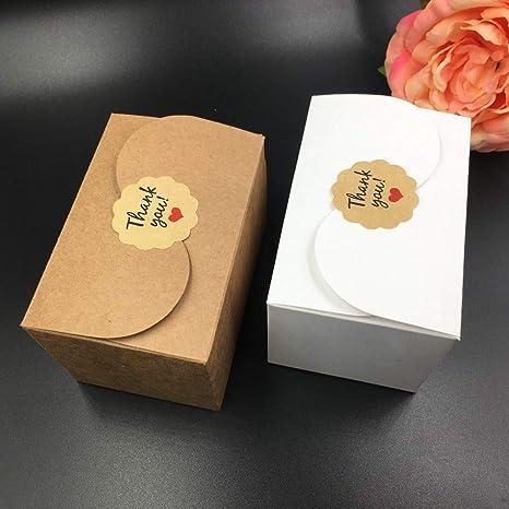 Amazon.com: Xiaogongju - Caja de papel kraft natural para ...