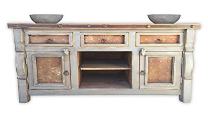 Amazon.com: Rancho Collection Marshall Rustic Vanity with ...