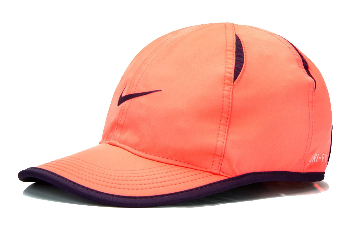 Nike WOMEN's Feather light Tennis Hat (MANGO/Black, One Size)