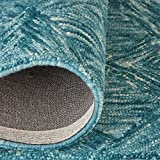 "Rivet Motion Patterned Wool Area Rug, 3'9"" x"