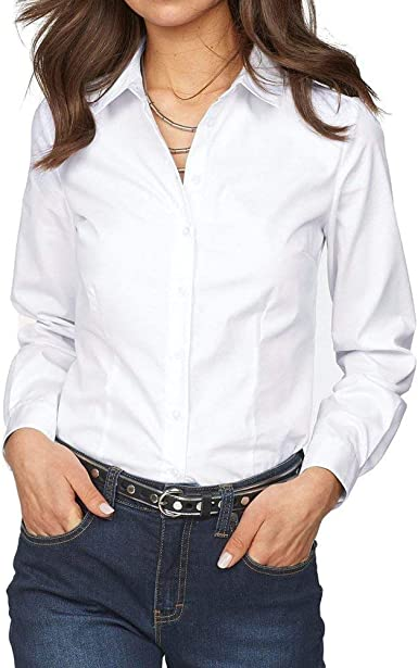 Elodiey Camisas De Otoño Blusas De Mujer Camisetas De Blusas Largas Mujeres Años 20 Camisas Formales Manga Larga Camisa De Oficina De Corte Slim Negro Rosa Azul: Amazon.es: Ropa y accesorios