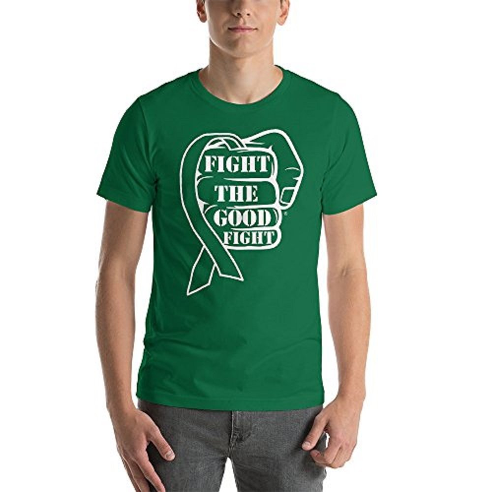 Fight The Good Fight Ribbon Awareness Short-Sleeve Unisex T-Shirt