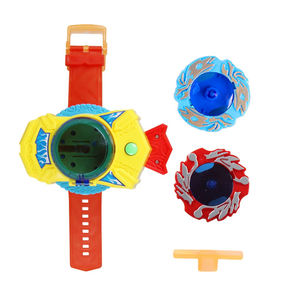 Cool Magic Spinning Top Toy Manual Pull Start Spinning Gyroscope for Kids Adult Watch Set