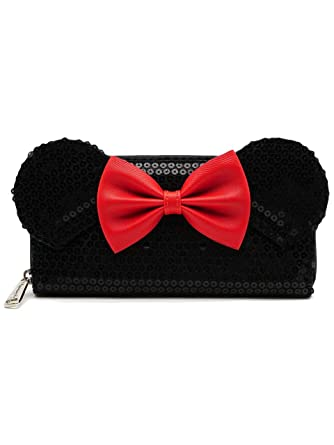 df606a25790 Loungefly Disney Minnie Bow Sequin Wallet