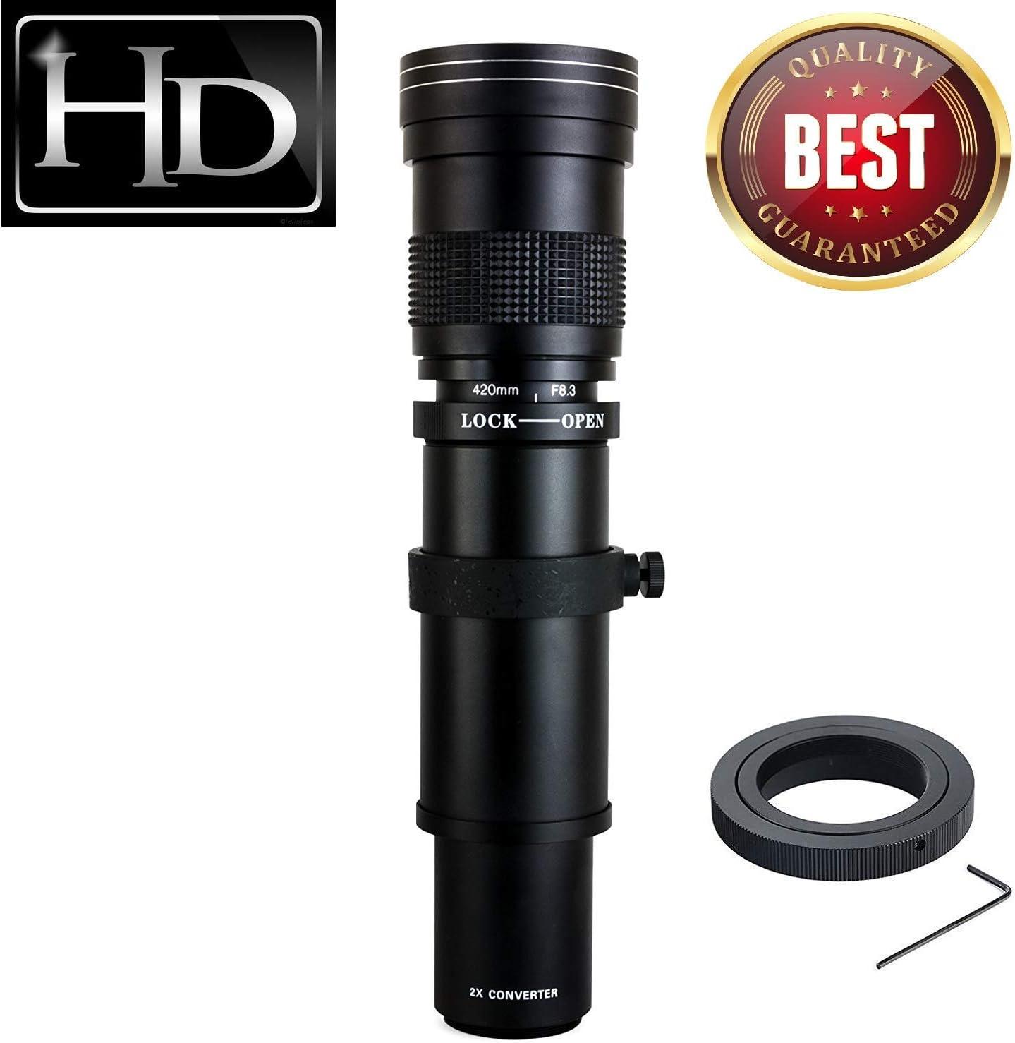 Lenses Electronics T6 T6i JINTU 420-800mm f/ 8.3-F16 Telephoto ...