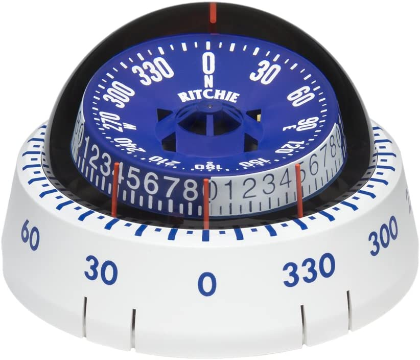 Ritchie Compass Ritchie Xp-98W X-Port Tactician Compass - White : Boat Compasses : Sports & Outdoors