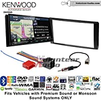 Volunteer Audio Kenwood Excelon DNX994S Double Din Radio Install Kit with GPS Navigation Apple CarPlay Android Auto Fits 2006-2012 Hyundai Santa Fe