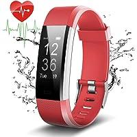 COOLEAD Pulsera Actividad con GPS,ID115Plus HR Bluetooth Pulsera Intellgente con Ritmo cardiaco,Contador de Pasos…