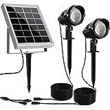 MEIKEE Solar Outdoor Spotlight 2 in 1, Solar Landscape Lights with Waterproof IP66, Warm White Solar Lights Outdoor…