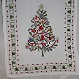Nantucket Home Embroidered Cutwork Christmas Tree 13 X 72 Table Runner