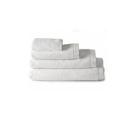 Pack 4 Toallas 30x50 cm blanco 100% algodón rizo americano 550 gram/m2
