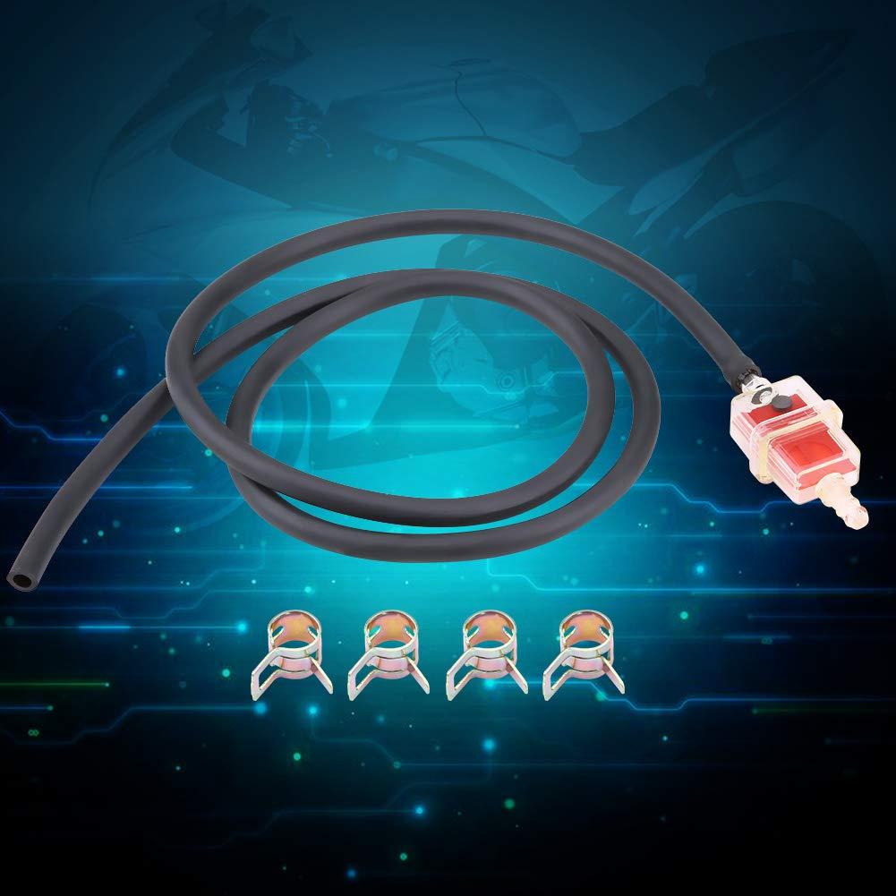 Swarchz Motorrad Kraftstofffilter Schlauch Kit 6mm 1//4 Zoll Motorrad Roller Platz Kraftstofffilter Kraftstoffschlauchleitung Schellen