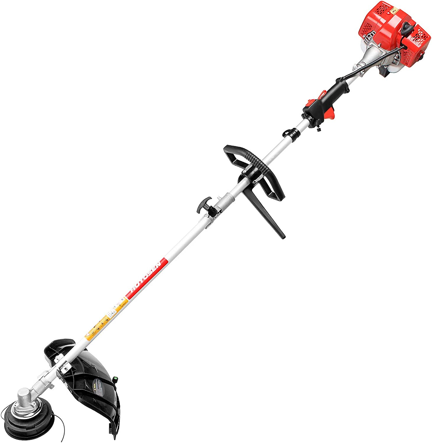 HUYOSEN 25.4CC 2-Cycle 18-Inch Straight Shaft Gas Powered String Trimmer, Brush Cutter Weeder Eater with Attachment Capabilities for Lawn Care and Garden