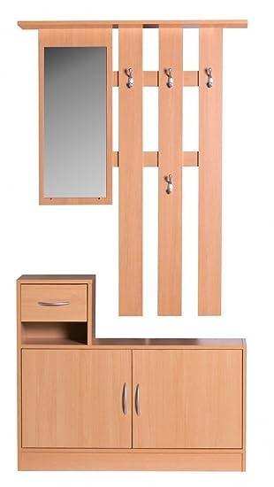 Finebuy Sero Garderobe Komplett Zum Aufhangen Flur Mit Spiegel