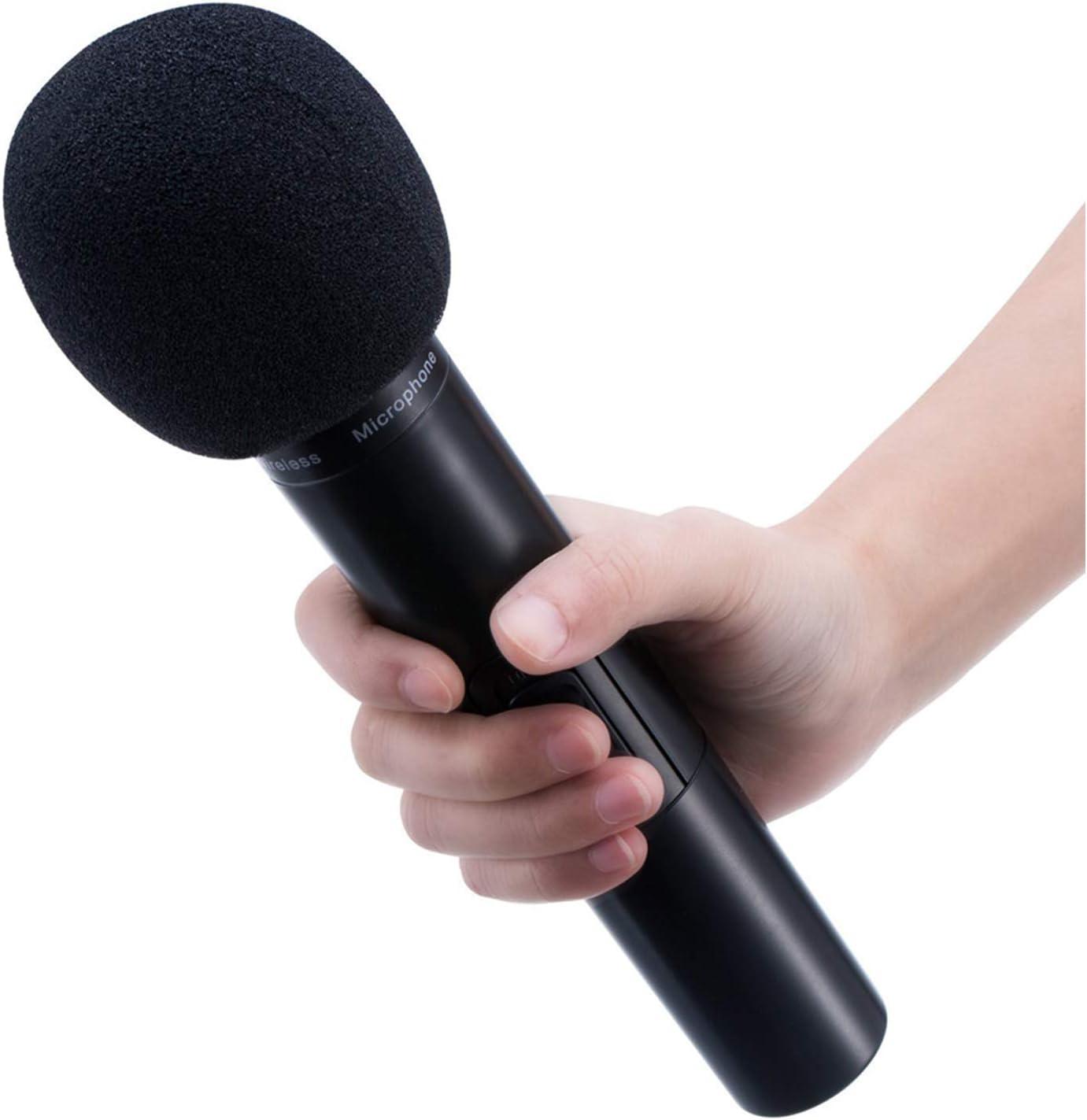 Micr/ófono engrosado 5 unids cubierta esponja micr/ófono cubierta hogar KTV micr/ófono esponja cubierta Blowout cubierta a prueba de viento esponja cubierta port/átil etapa micr/ófono viento cubierta