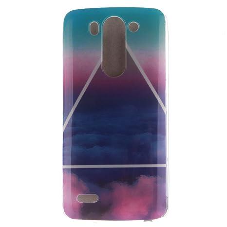 Guran® Silicona Funda Carcasa para LG G3 Beat / LG G3S / LG G3 Mini Smartphone Case Bumper Shock TPU Cover-Nube de triángulo